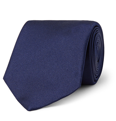 8cm Ribbed Silk Tie Turnbull & Asser 9Aw0hS