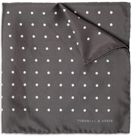Turnbull & Asser Rolled-Seam Silk Pocket Square