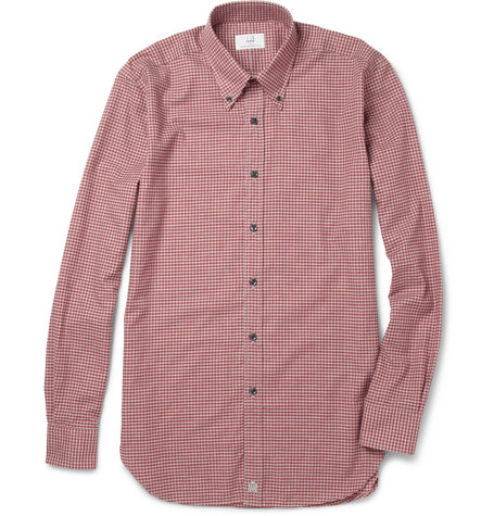 Alfred Dunhill Check Brushed-Cotton Shirt