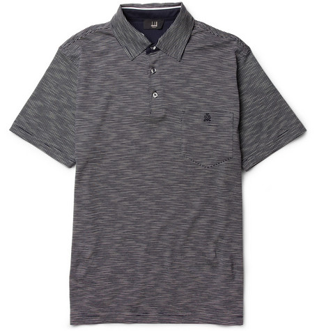 Alfred Dunhill Striped Cotton Polo Shirt