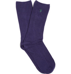 Polo Ralph Lauren Ribbed Cotton-Blend Socks