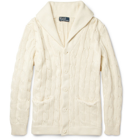 Polo Ralph Lauren Cable-Knit Shawl Collar Cardigan