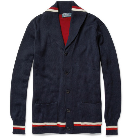 Polo Ralph Lauren Shawl-Collar Knitted Cotton Cardigan