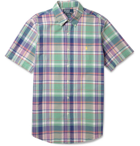 Polo Ralph Lauren Custom-Fit Madras-Check Cotton Shirt