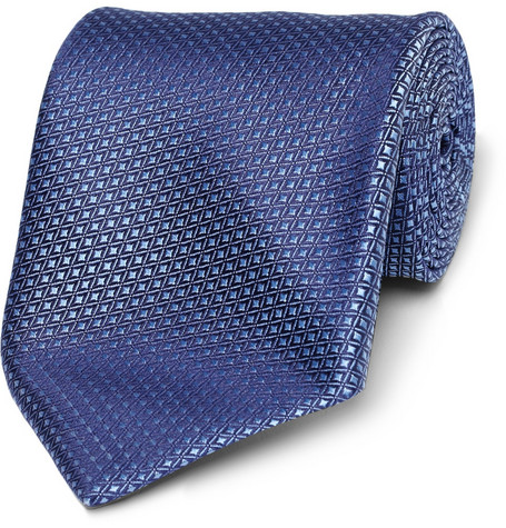 Charvet Diamond-Patterned Woven-Silk Tie