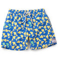 Pink House Mustique - Mid-Length Fish-Print Swim Shorts