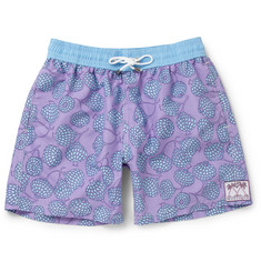 Pink House Mustique Pomegranate Print Swim Shorts