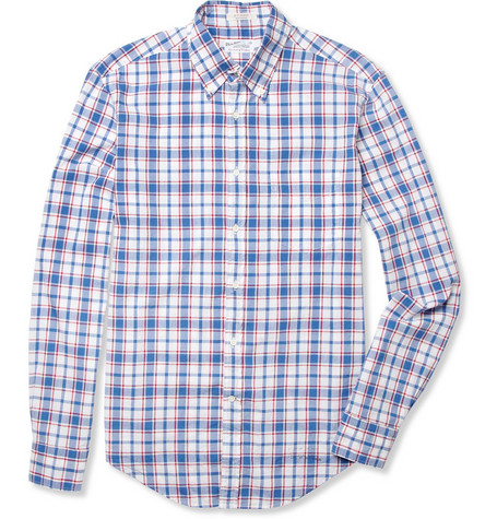 Gant Rugger Madras-Check Button-Down Collar Cotton Shirt