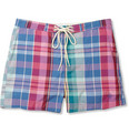 Gant Rugger Madras-Check Cotton-Blend Swim Shorts