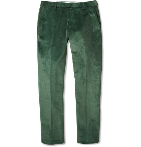 Etro Mexico Straight-Leg Cotton-Blend Corduroy Trousers