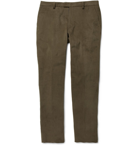 Etro Straight-Leg Cotton-Moleskin Trousers