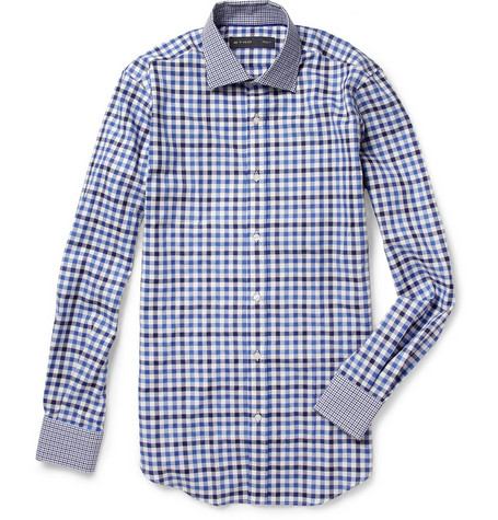 Etro Slim-Fit Check Cotton Shirt