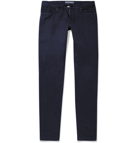 Etro Slim-Fit Cotton-Blend Trousers