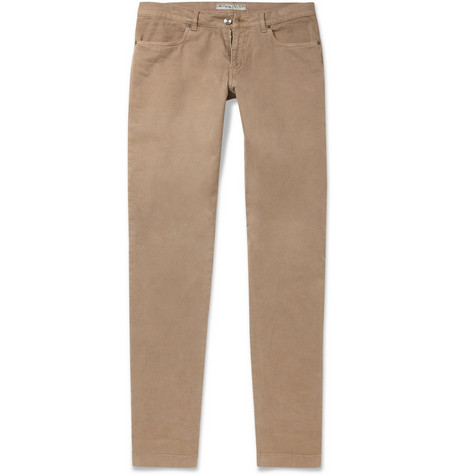 Etro Straight-Leg Cotton-Blend Trousers