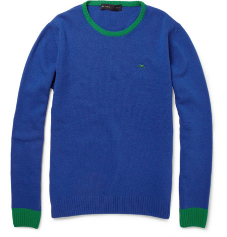 Etro Contrast-Trim Wool Sweater