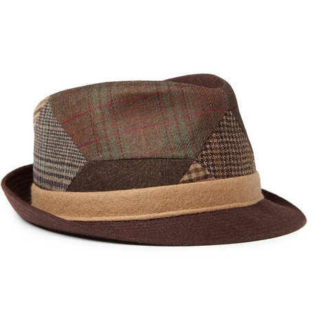 Etro Patchwork Wool-Blend Trilby Hat