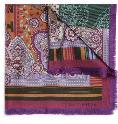 Etro Printed Silk-Satin Pocket Square
