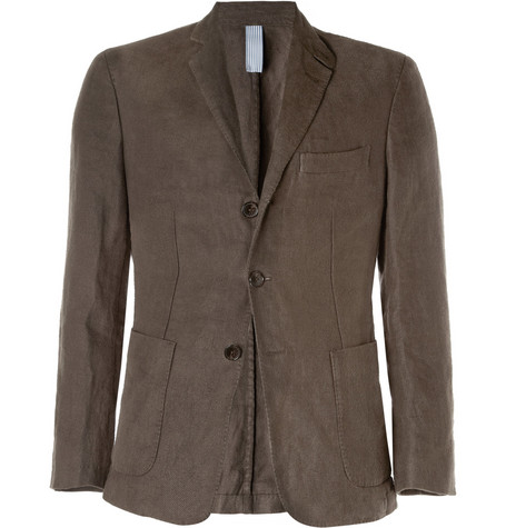 Faconnable Unstructured Brushed-Linen Blazer