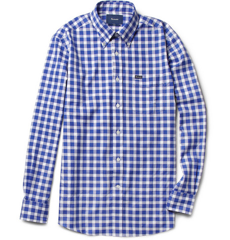 Faconnable Gingham Check Cotton Shirt