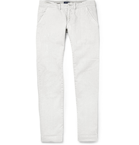 Faconnable Slim-Fit Washed-Denim Jeans