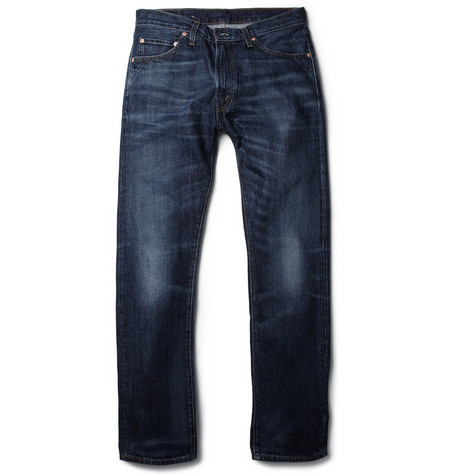 Levi's Vintage Clothing 1967 505 Washed Slevedge Denim Slim Jeans