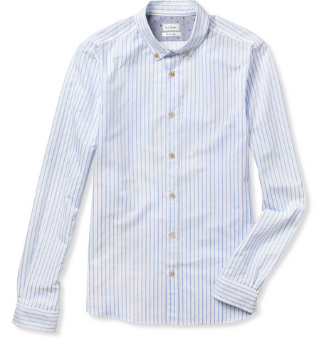Paul Smith Striped Button-Down Collar Slim-Fit Cotton Shirt