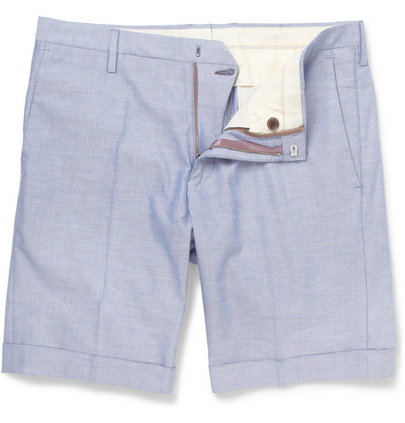 Paul Smith Cotton-Oxford Shorts
