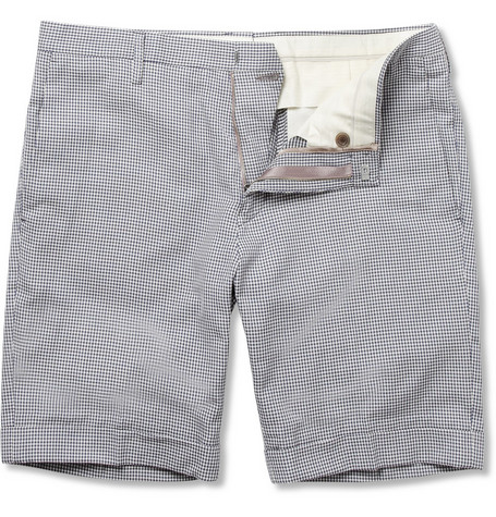 Paul Smith Slim-Fit Gingham Check Cotton Shorts