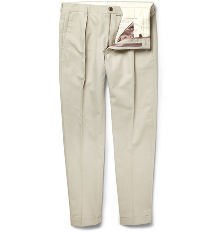 Paul Smith Tapered Cotton and Cashmere-Blend Trousers