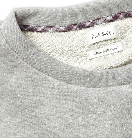 Paul Smith Slub Cotton-Jersey Sweatshirt