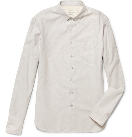 Rag & bone Flecked Stretch-Cotton Shirt