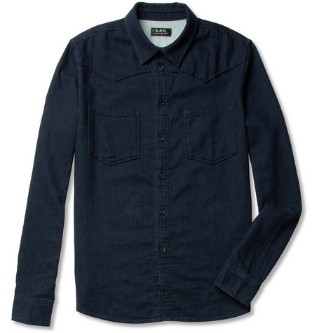 A.P.C. Overdyed Cotton Shirt