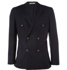 Boglioli Dover Double-Breasted Wool-Hopsack Blazer
