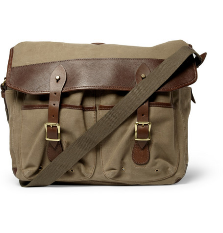 J.Crew Beaumont Waxed-Canvas Messenger Bag