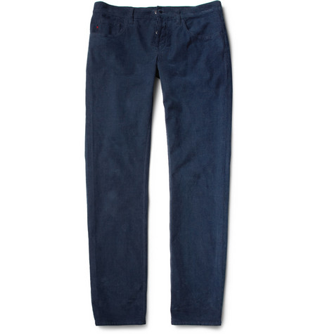 Gucci Slim-Fit Cotton-Blend Corduroy Trousers