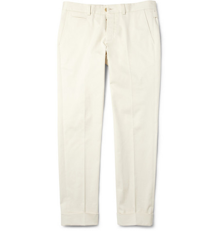 Gucci Brushed Stretch Cotton-Twill Chinos