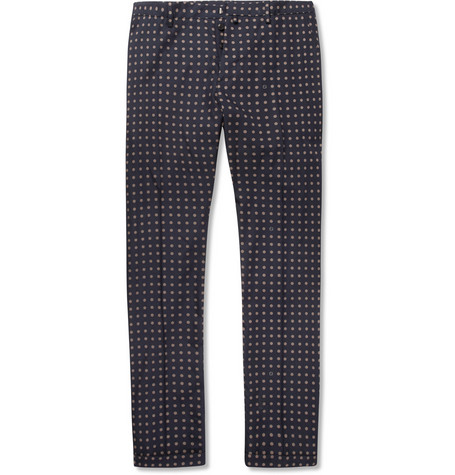 Gucci Printed Cotton and Silk-Blend Trousers