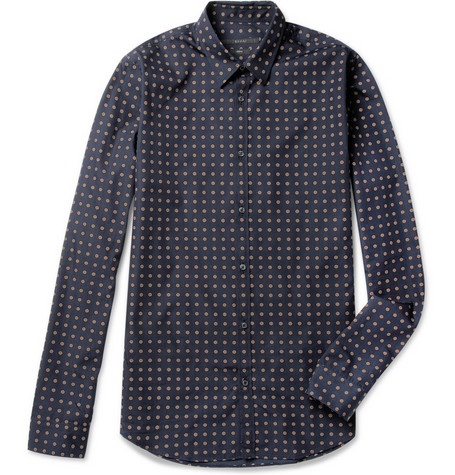 Gucci Printed Cotton and Silk-Blend Shirt