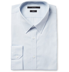 Gucci Light Blue Slim-Fit Cotton Shirt