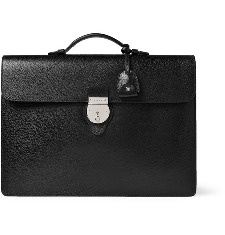 Gucci Textured-Leather Briefcase