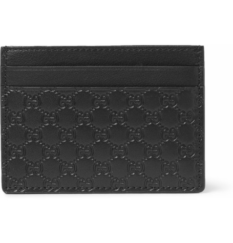 Gucci Embossed-Leather Card Holder