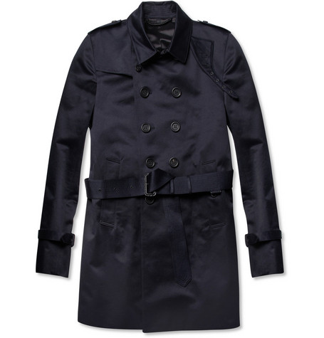Burberry Prorsum Cotton-Satin Trench Coat