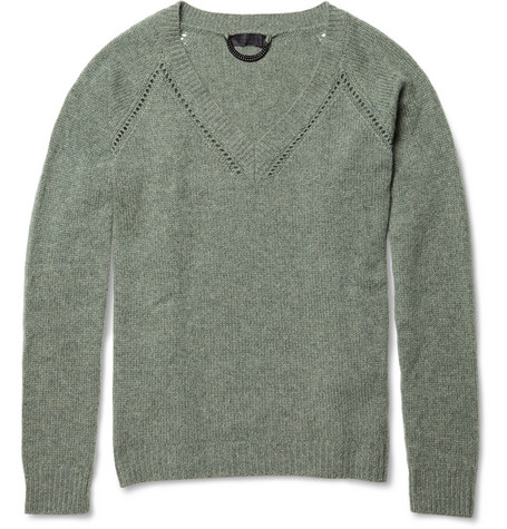 Burberry Prorsum Cashmere V-Neck Sweater