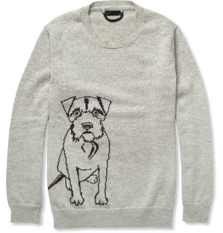 Burberry Prorsum Dog-Patterned Cashmere Sweater