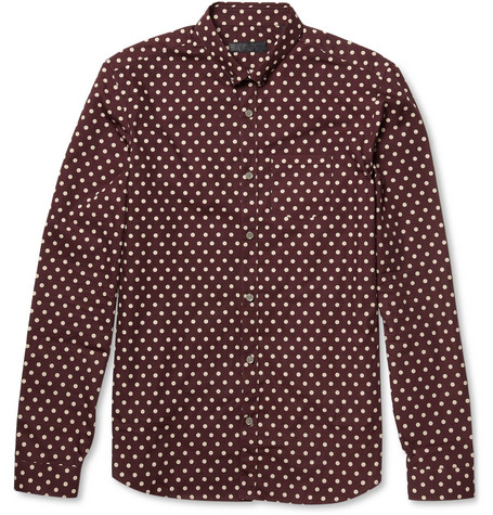 Burberry Prorsum Polka-Dot Cotton Shirt
