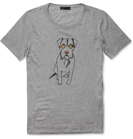 Burberry Prorsum Dog-Print Cotton-Jersey T-Shirt