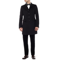 Burberry Prorsum White Slim-Fit Cotton Tuxedo Shirt