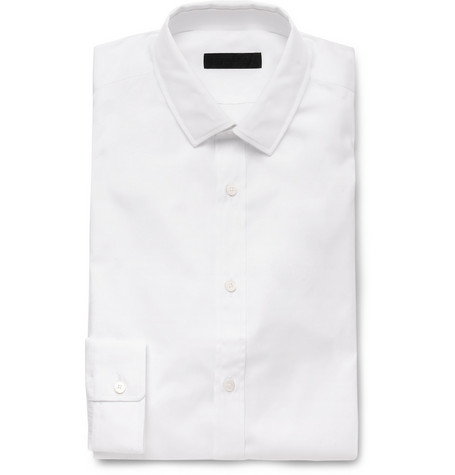 Burberry Prorsum White Slim-Fit Cotton Shirt