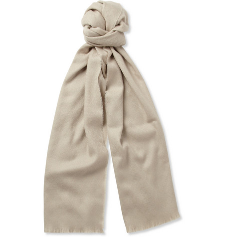 Gucci Jacquard Wool and Cashmere-Blend Scarf