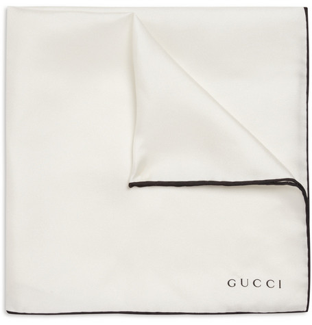 Gucci Contrast-Edge Silk Pocket Square